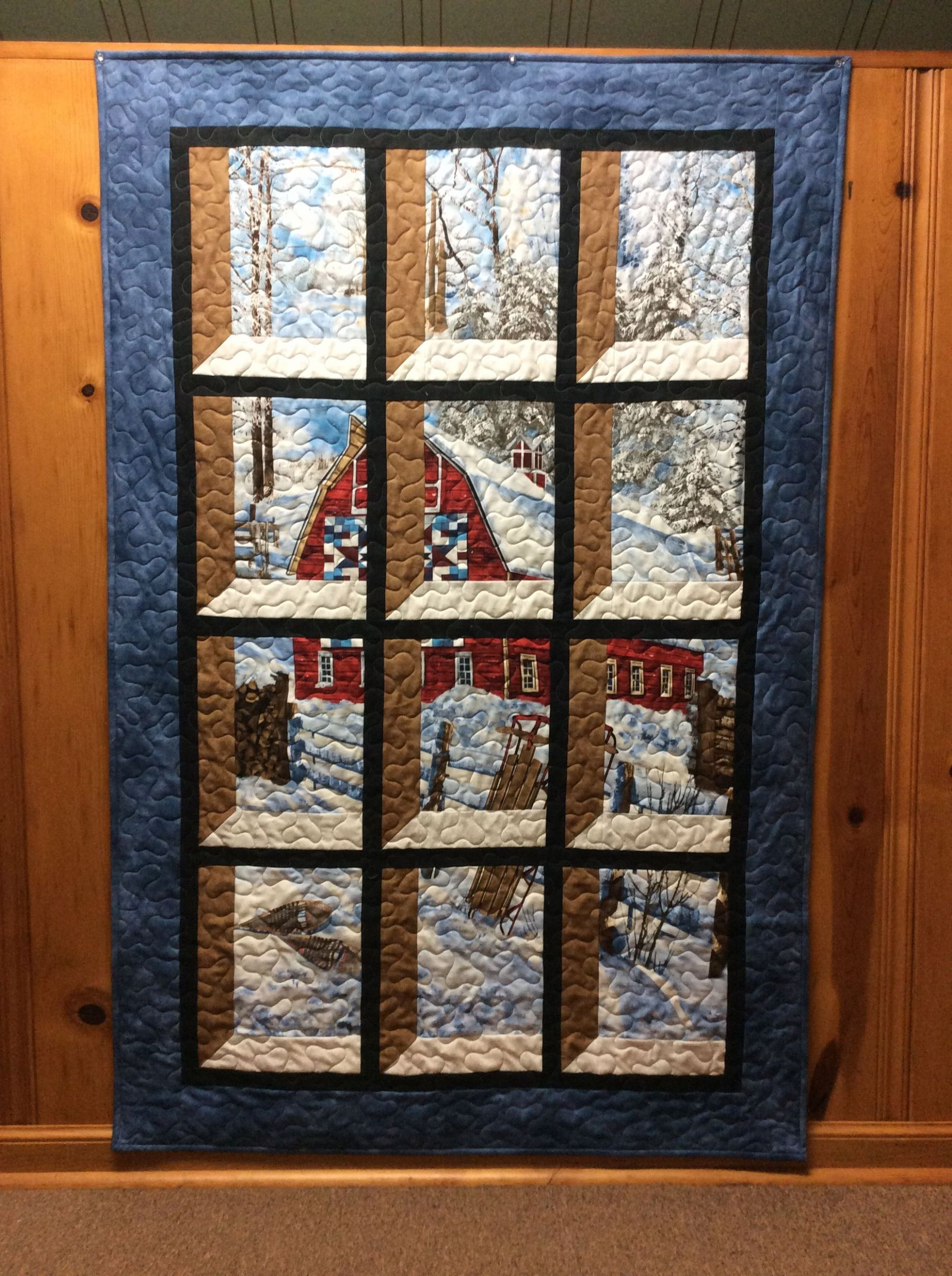 Attic Window Quilt Barn Quilt | Attic window quilts - window pane quilt ideas