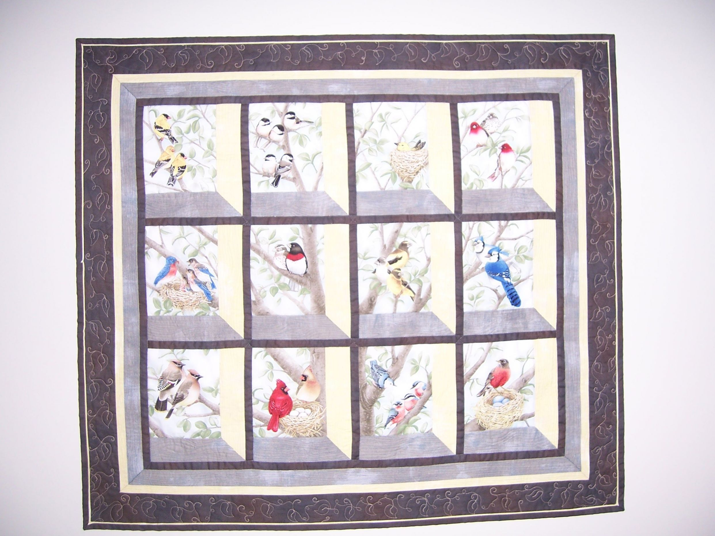 Attic windows wall hanging from Beautiful Birds in Window panel ..