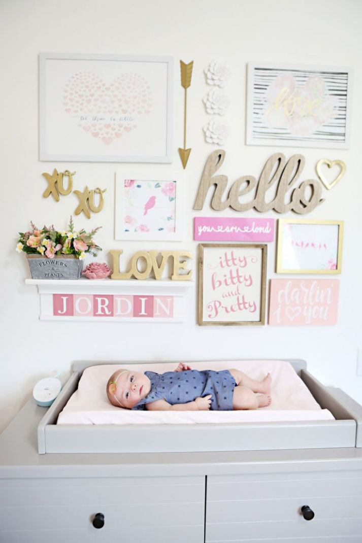 Attractive Wall Decor For Nursery Pinterest Baby Girl Picture Full ..