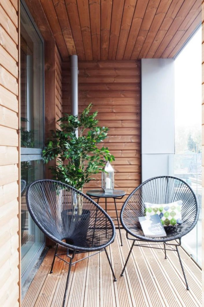awesome small balcony design ideas also wooden ceiling and floor ..