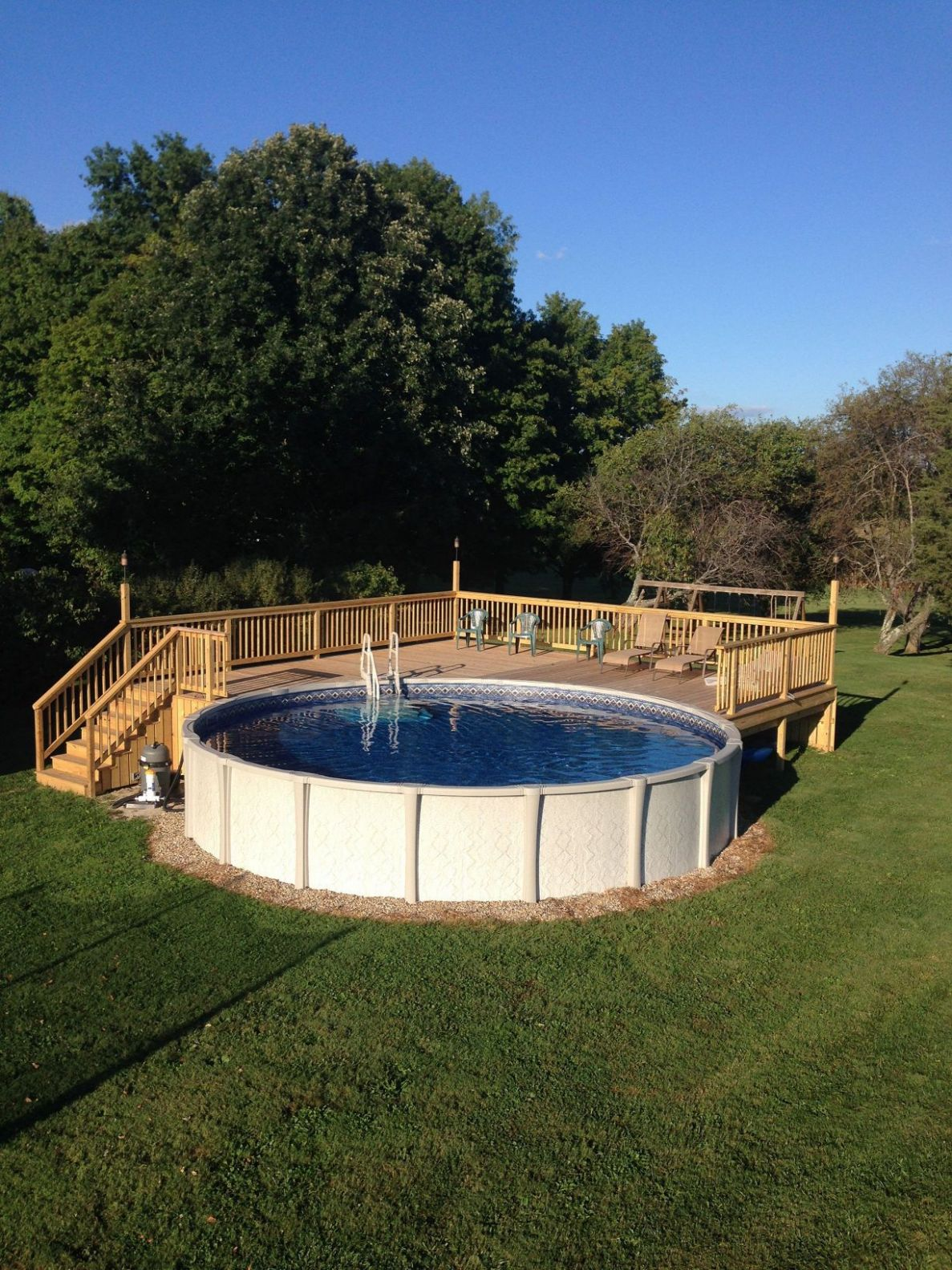 Awesome Top Diy Above Ground Pool Ideas On A Budget Pict Of ...