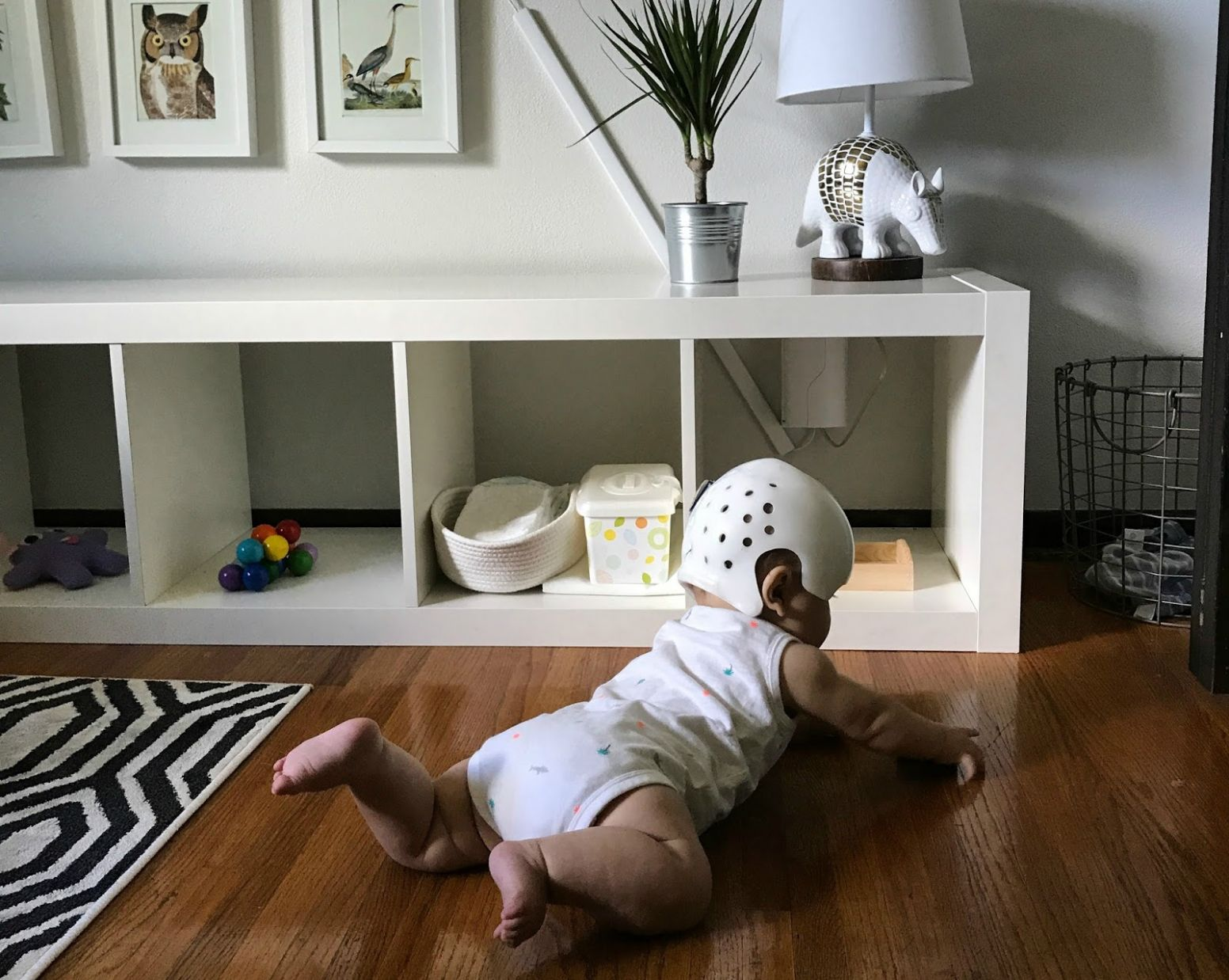 Baby Proofing with a Montessori Floor Bed - baby room flooring