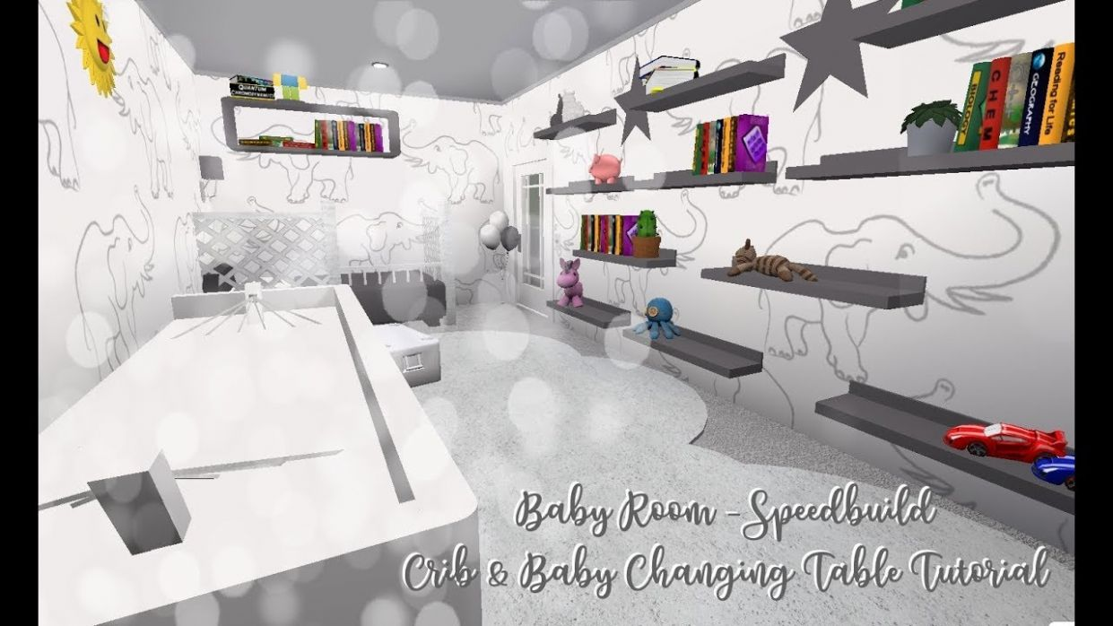 Baby Room | Crib & Baby Changing Table Tutorial (Step by Step) | ROBLOX  Bloxburg Speedbuild
