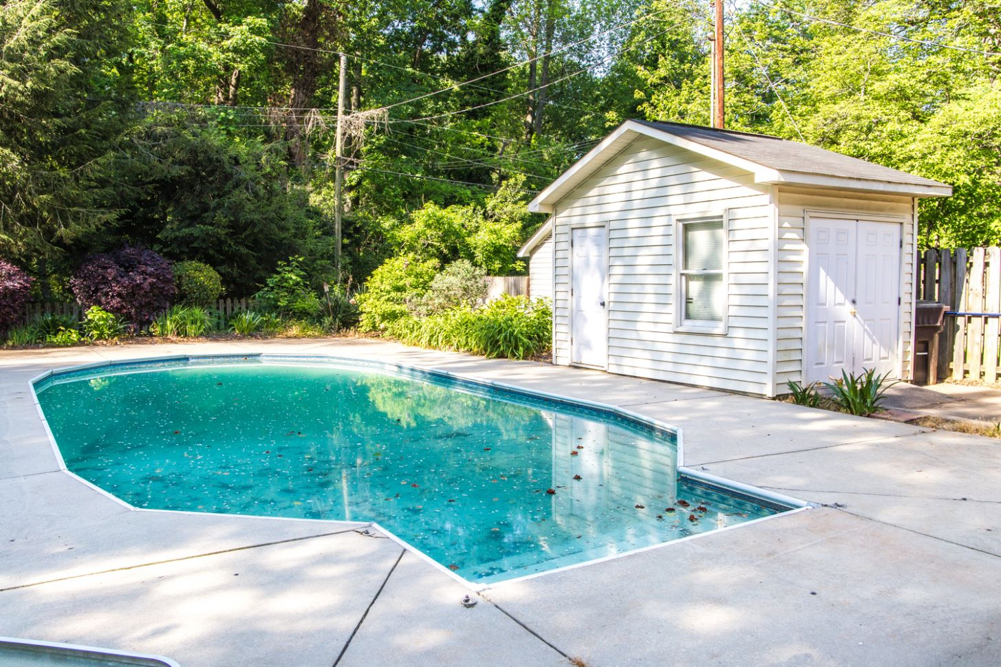 Backyard Before Tour and Pool Makeover Plans - Bless'er House