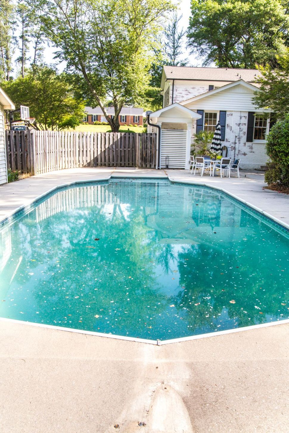 Backyard Before Tour and Pool Makeover Plans   Stair makeover ...