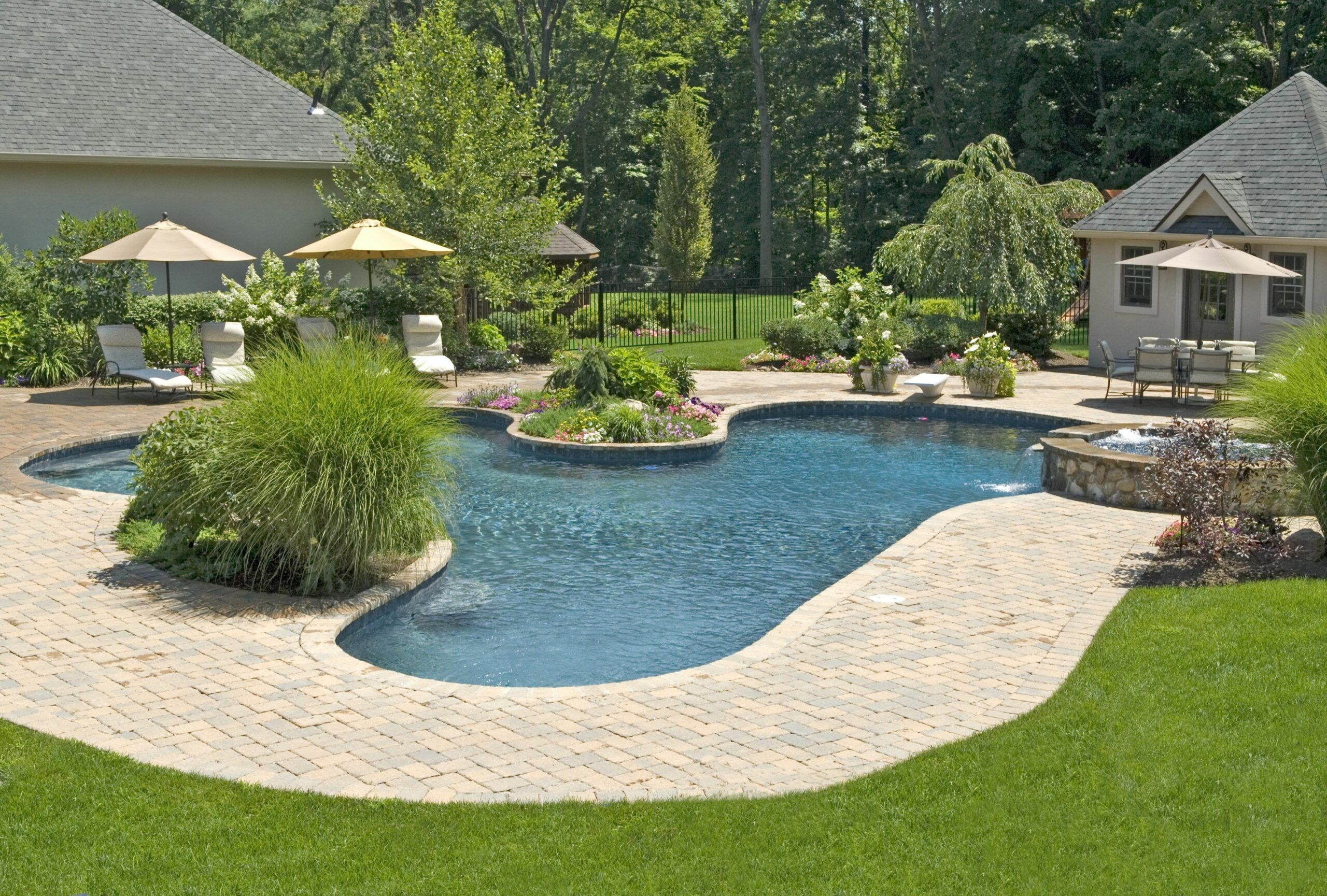 Backyard Pool Ideas Landscaping Pictures On A Budget Simple Home ...
