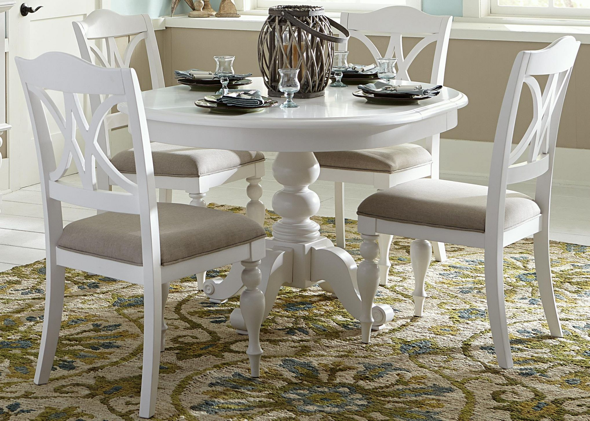 Bailey 12 Piece Round Table Set - dining room ideas with round table