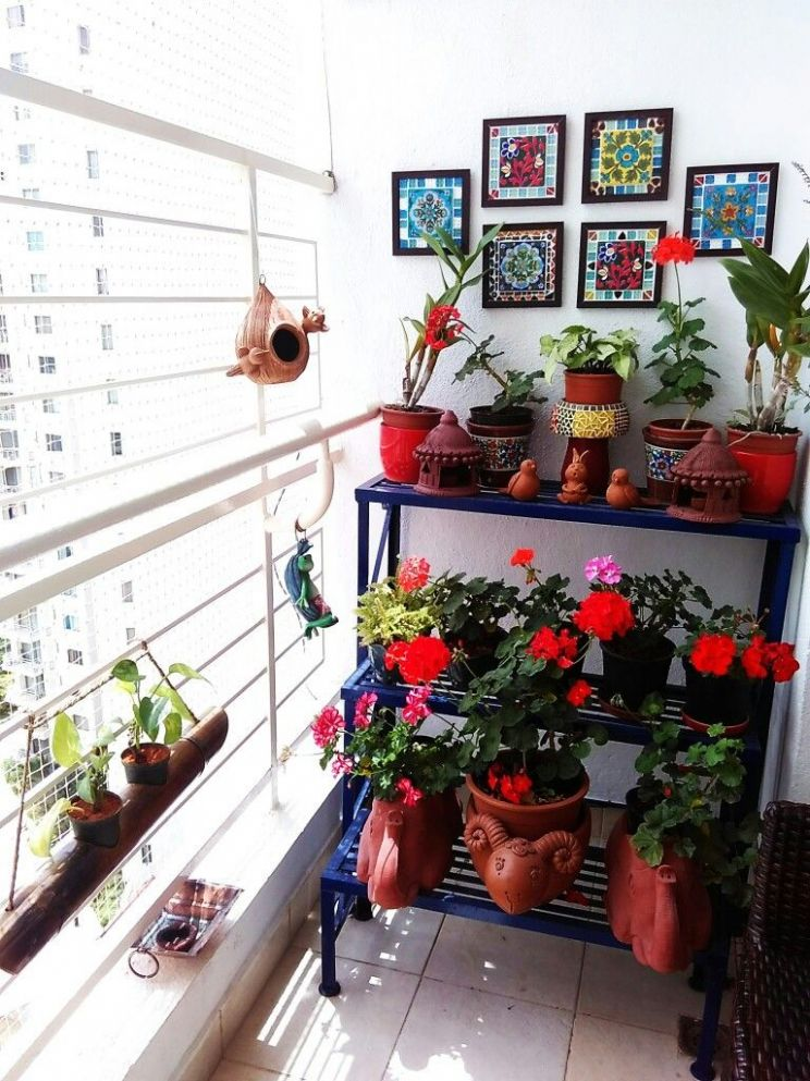 Balcony Garden - My Bloomingdale | Small balcony decor - balcony ideas for apartments india
