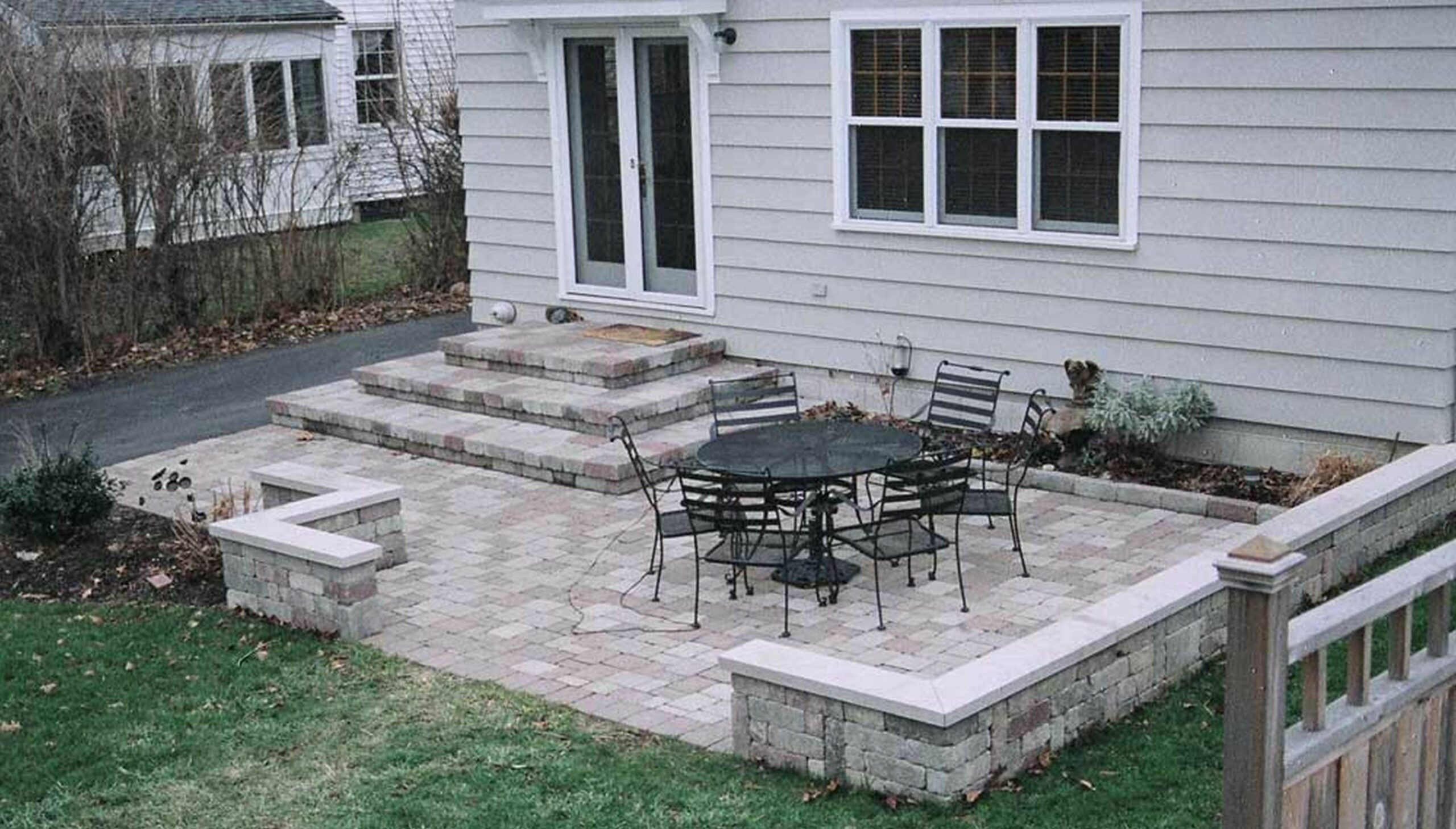 Balcony Patio Backyard Small Stone Design Ideas Beautiful For Yard ...