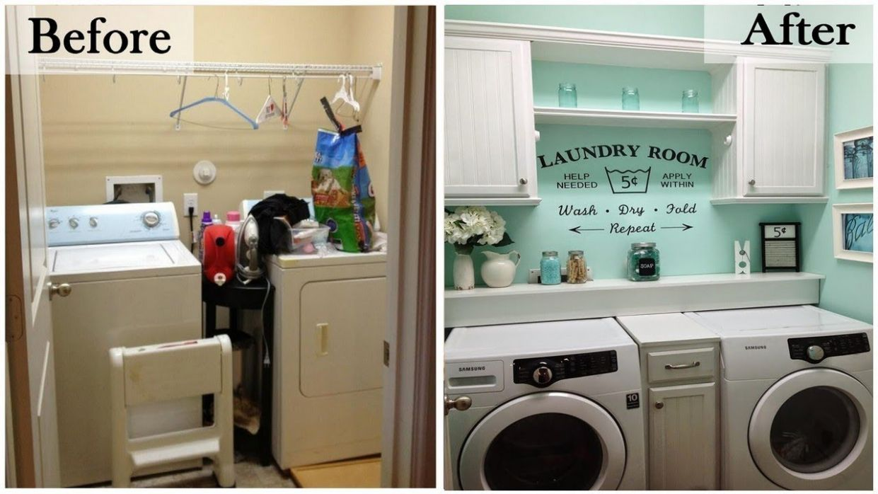 Basement Laundry Room Design, Remodel, and Makeover Ideas - laundry room ideas for basement
