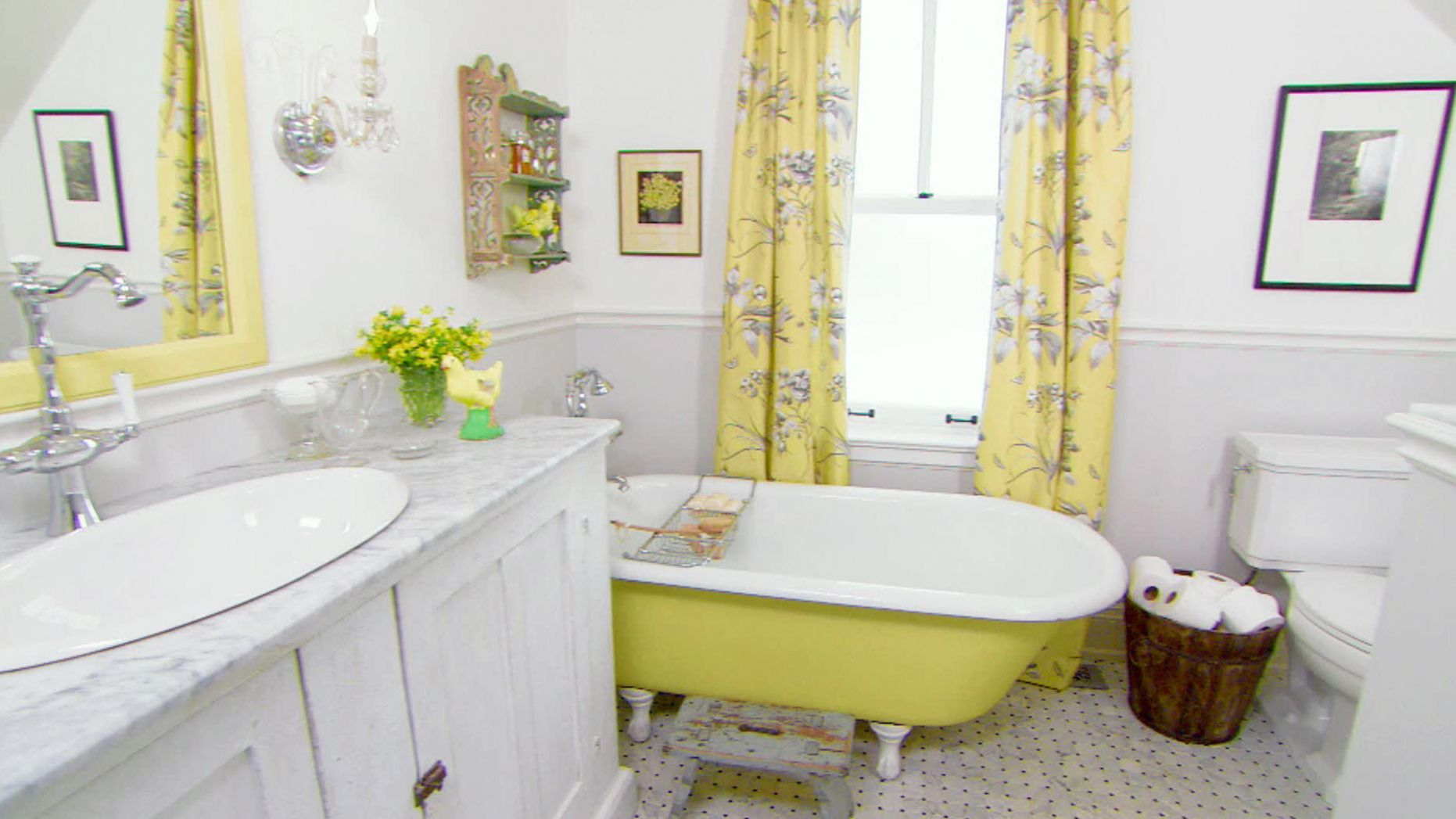 Bathroom Colors | HGTV - bathroom ideas yellow