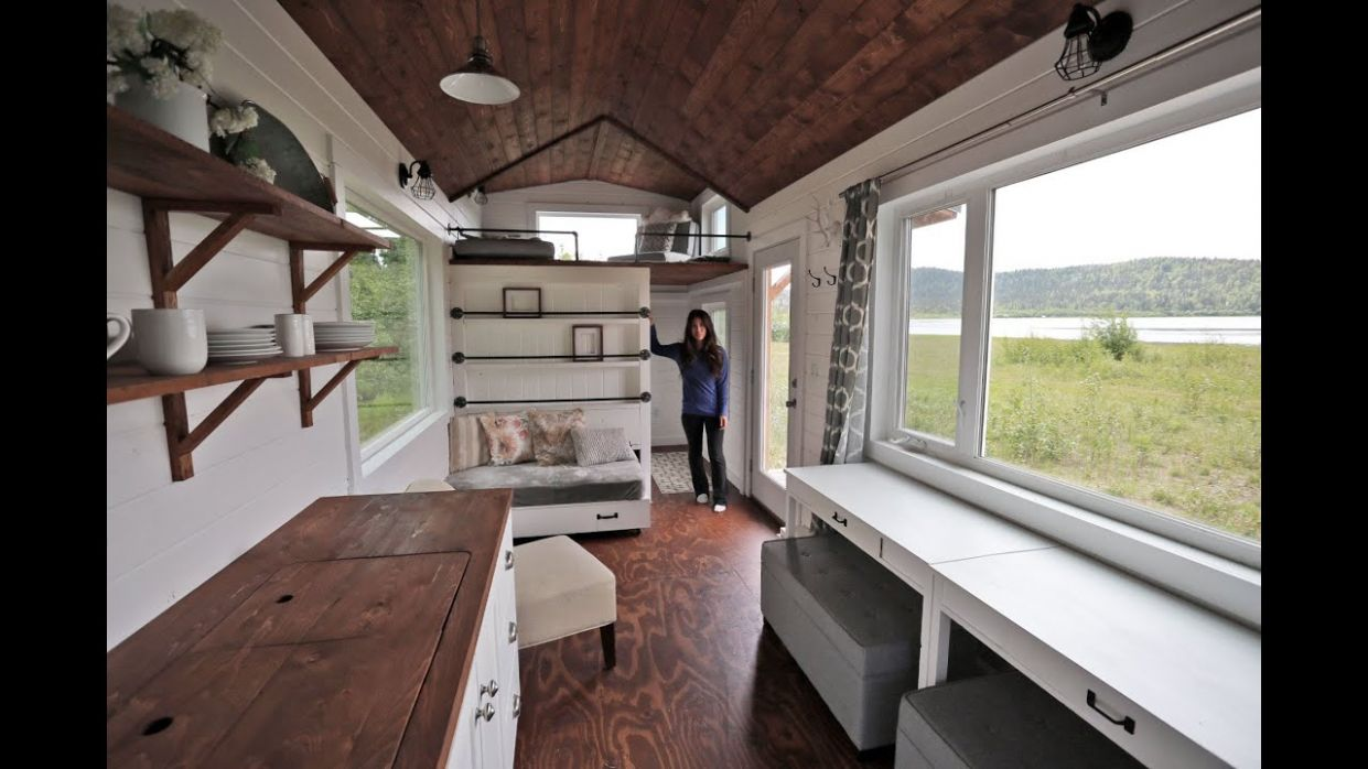Beautiful 12 Foot Tiny House Tour with Free Plans: Ana White Tiny House  Build [Episode 12] - tiny house tour