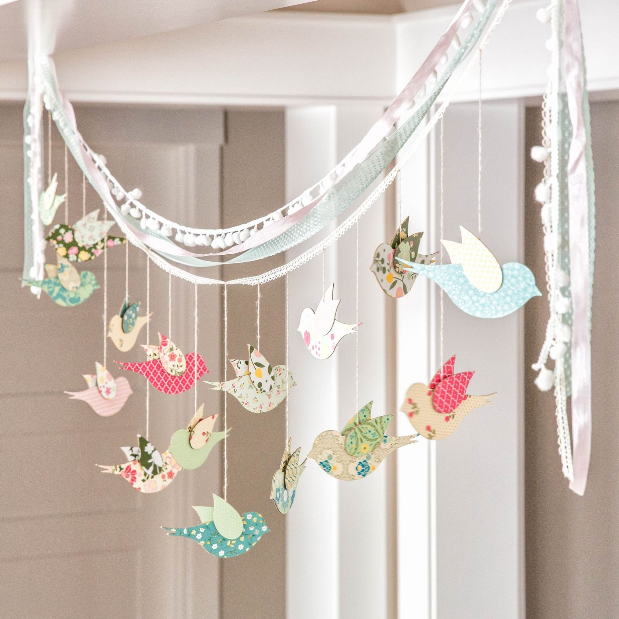 Beautiful DIY Bird Banner. Home Decor or party decor perfect for ..