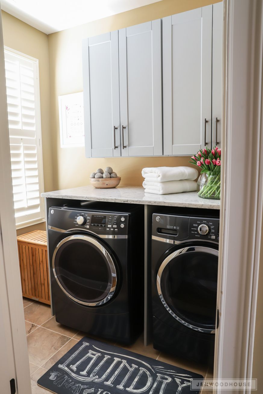 Beautiful Laundry Room Makeover with The Home Depot - diy room decor home depot