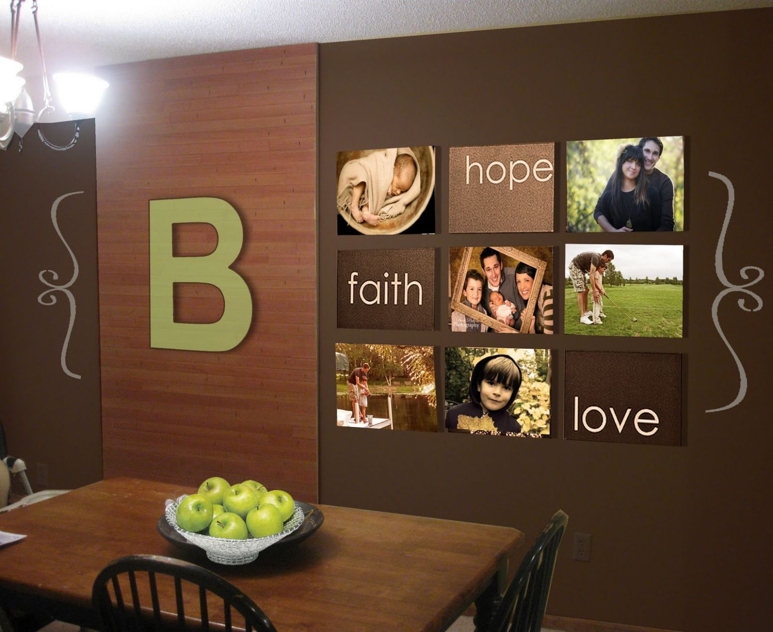 Beautiful Wall Decor Ideas Together With Large Kitchen Dining Room ...