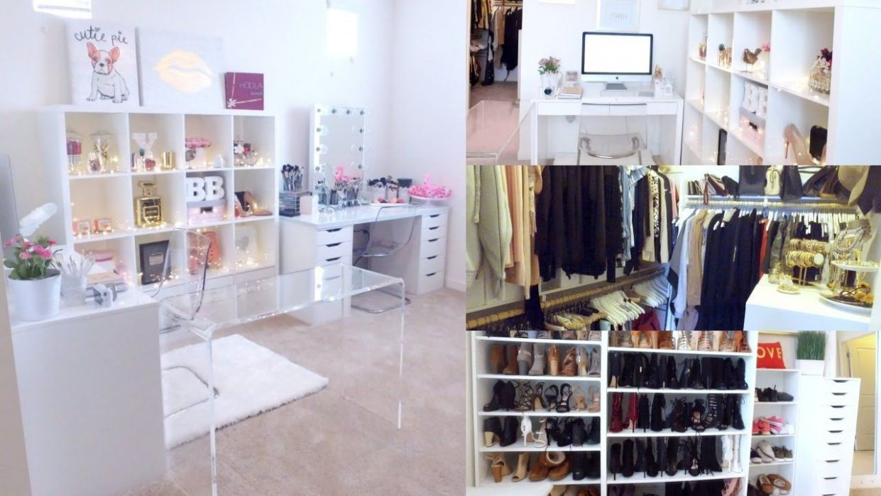 BEAUTY, OFFICE & CLOSET ROOM TOUR! | BEAUTYYBIRD (With images ..