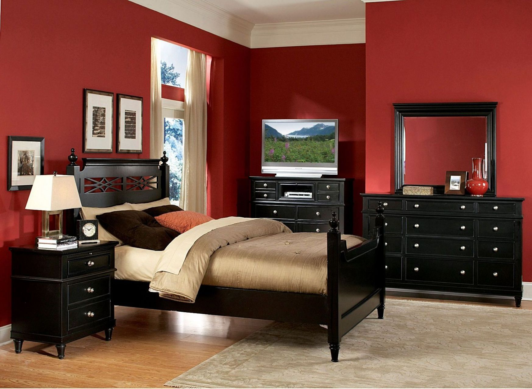 Bedroom Ideas With Red Walls | Home Decor