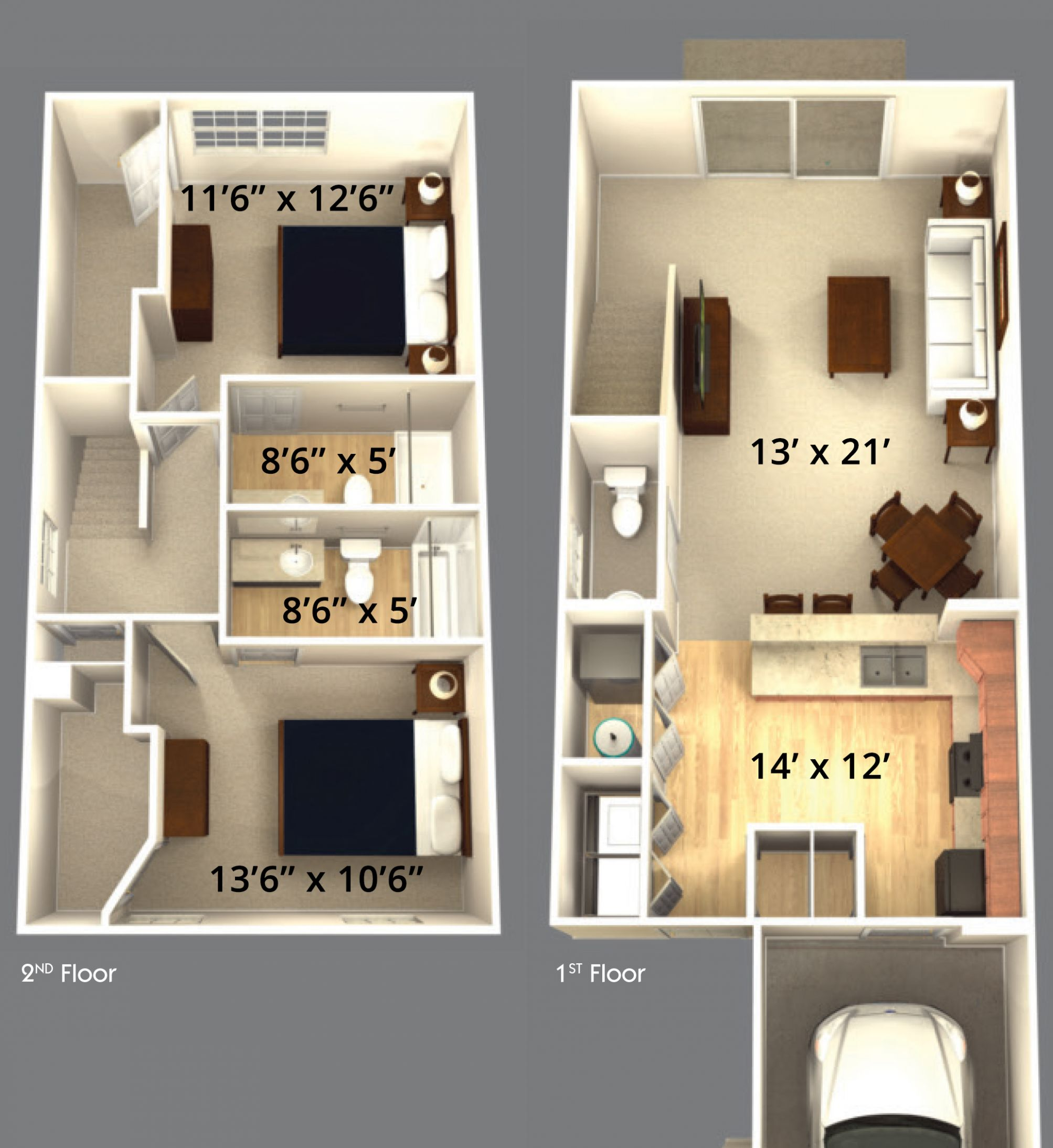 Best Bedroom Apartment Layouts Small Two Floor Plans Style ..