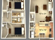 Best Bedroom Apartment Layouts Small Two Floor Plans Style ...