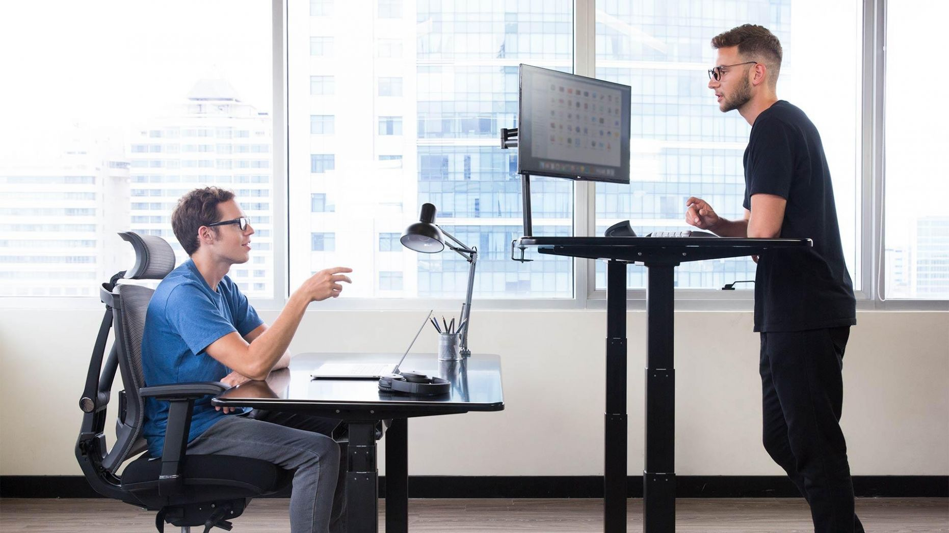 Best Standing Desk Ideas for Home Office - home office ideas with standing desk