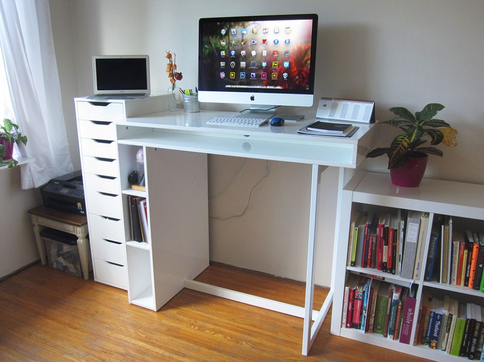 Best Standing Desk Ideas for Home Office - home office monitor ideas