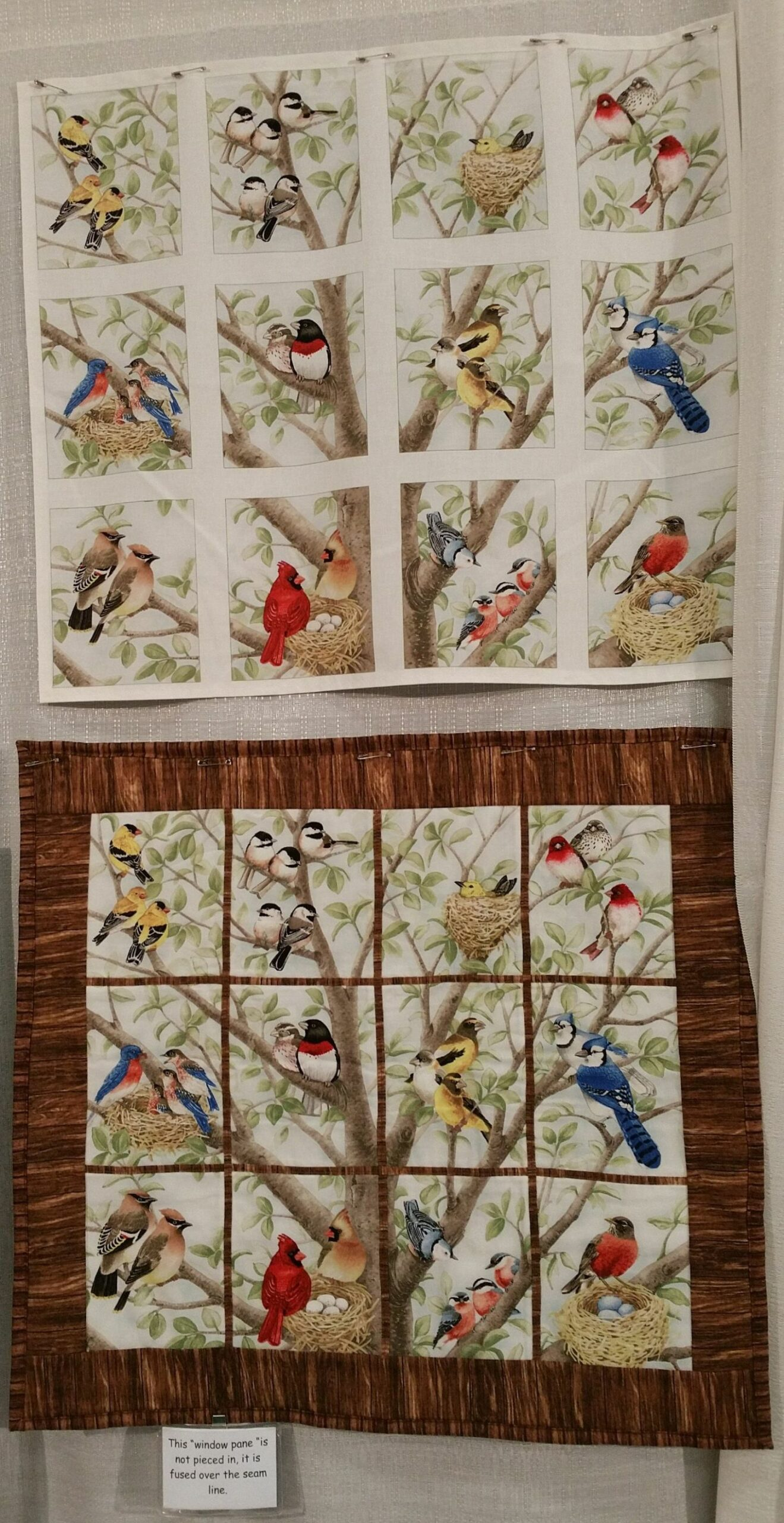 Bird Quilt | Bird quilt, Fabric panel quilts, Attic window quilts - window pane quilt ideas