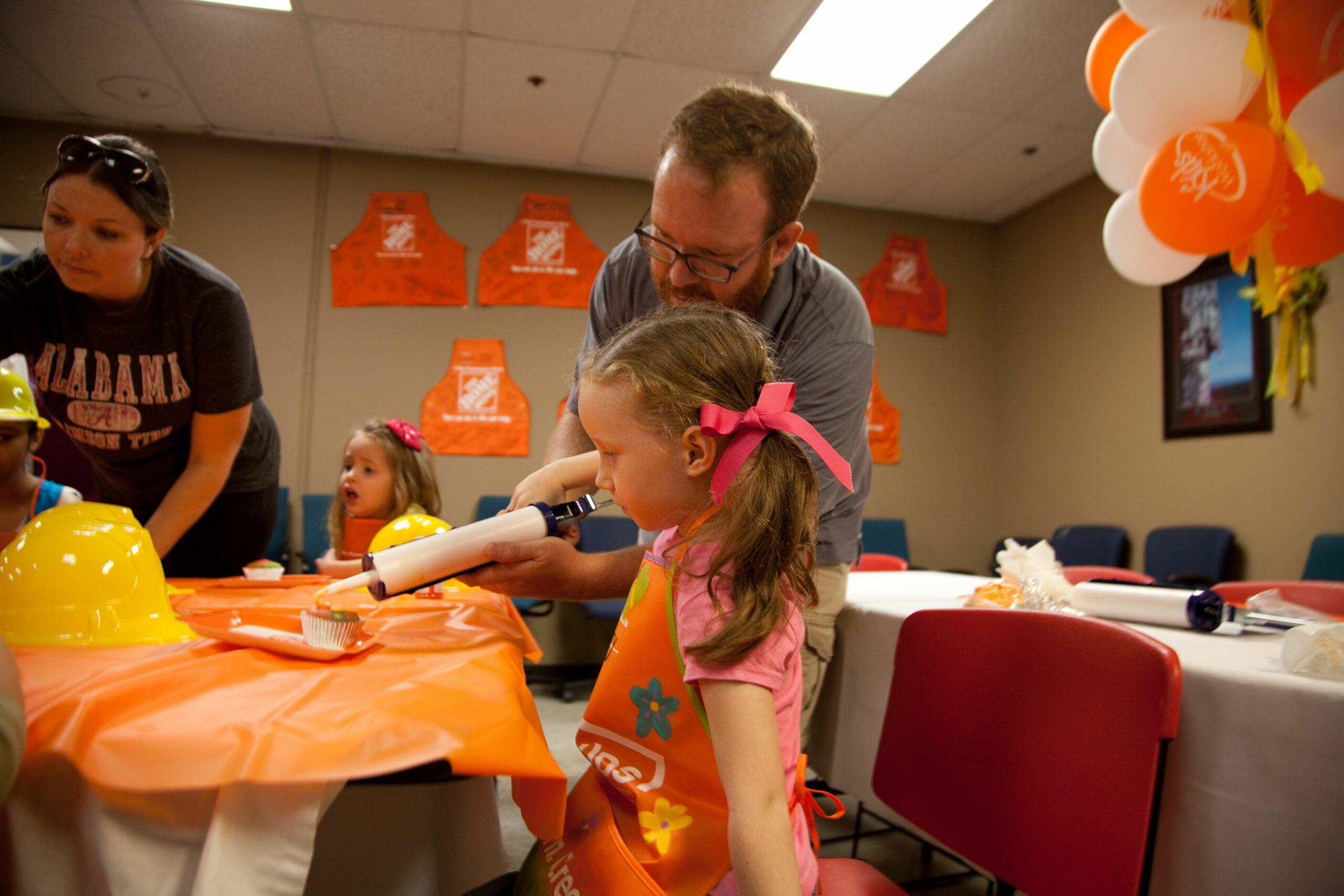 Birthday Party at Home Depot - Dad Is Learning - diy room decor home depot