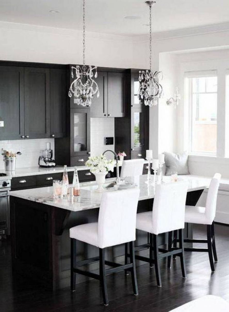 Black and White Kitchen Ideas - dining room ideas black and white