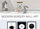 Black and White wall art, perfect for a modern nursery. Modern ...