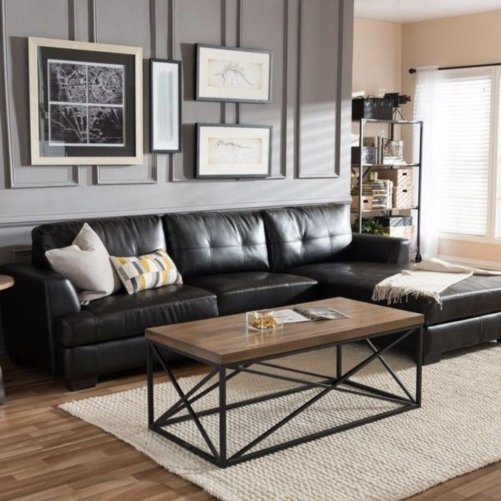 Black Couch Living Room Ideas | Newsgr | Leather sofa living room ..