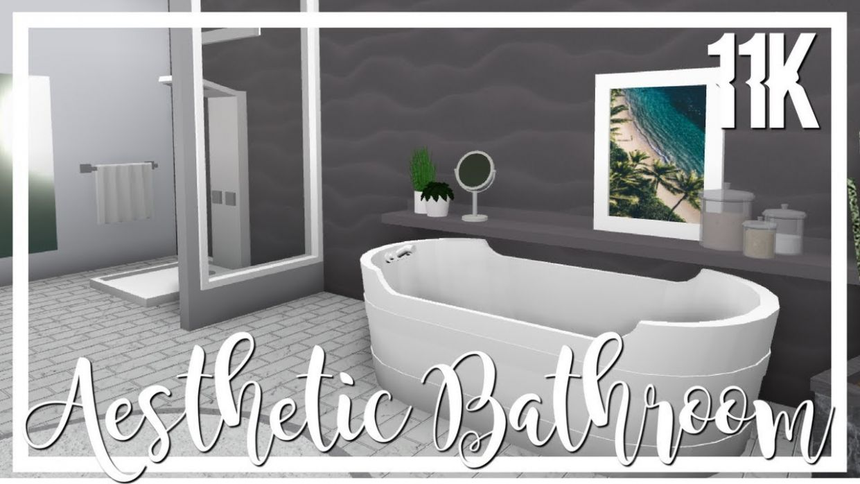 Bloxburg: Aesthetic Bathroom ? - bathroom ideas bloxburg