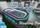 Bloxburg Floating Pool, Hot Tub & Sauna Elegant Mansion Series Part 8 Stair  Update