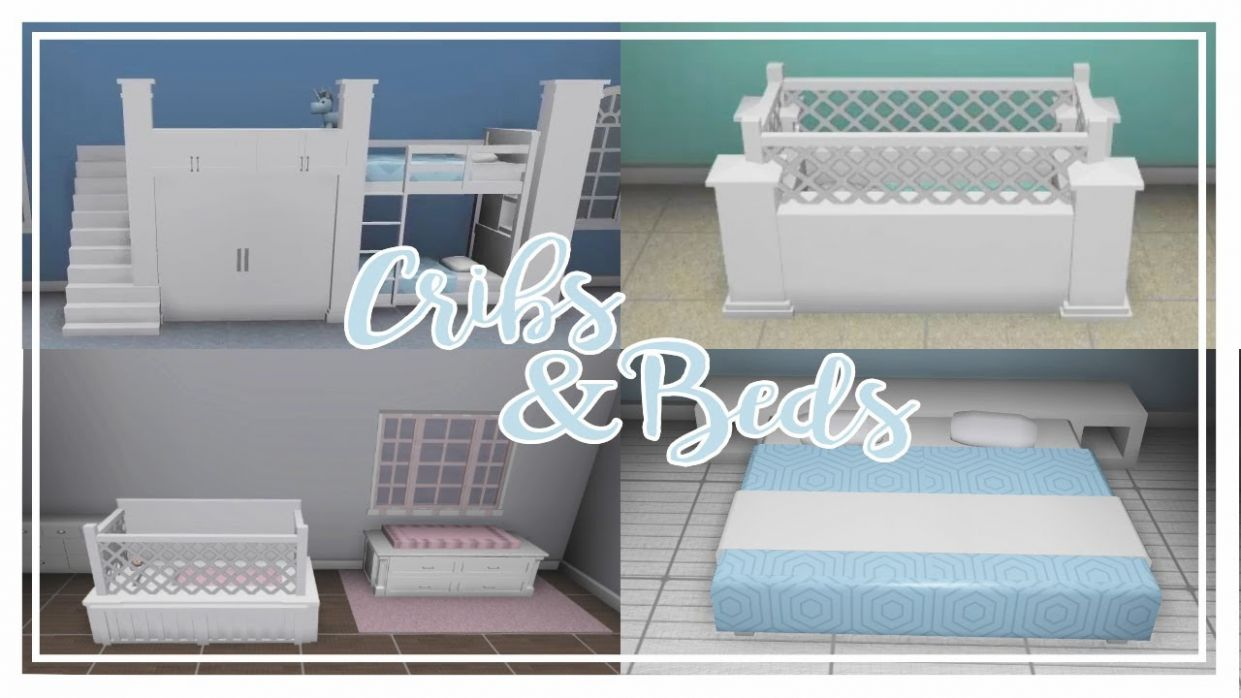 Bloxburg Furniture Building || Beds and Cribs