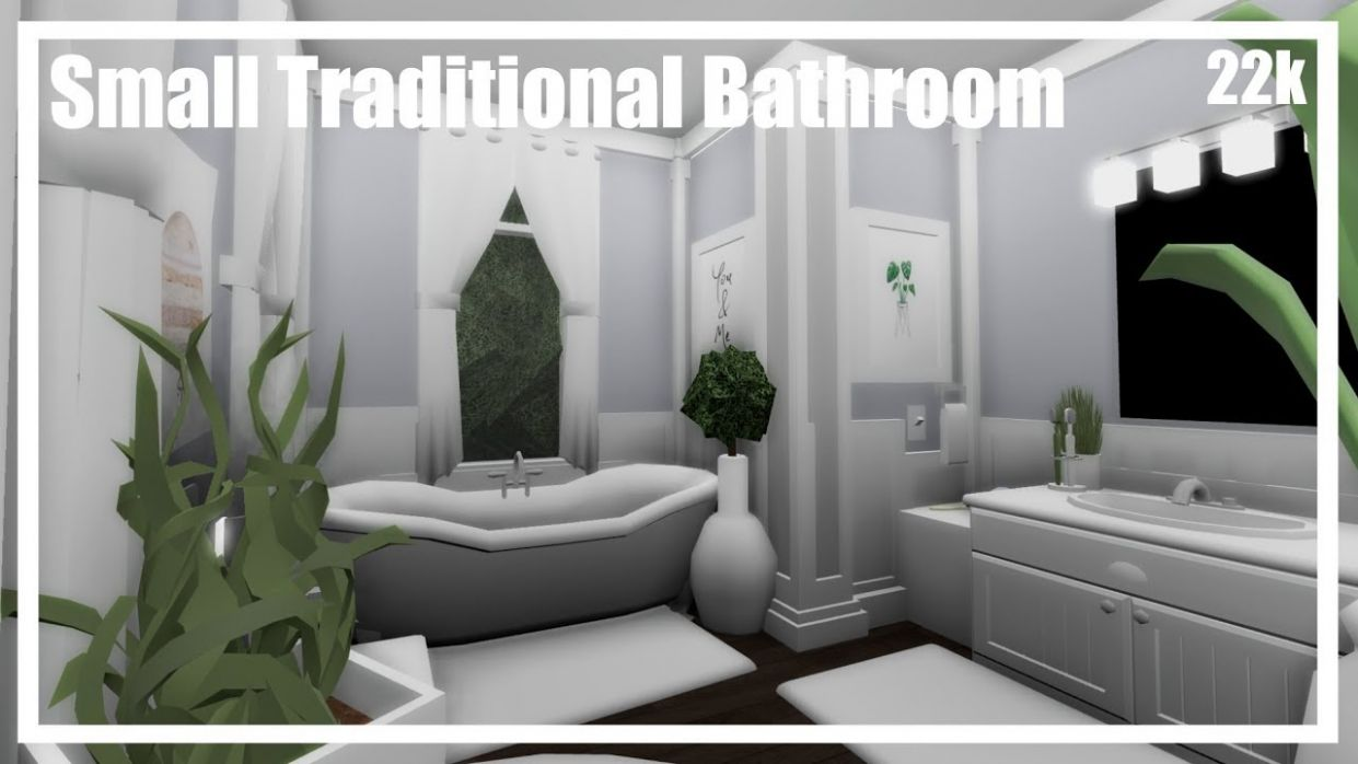 Bloxburg || Small Traditional Bathroom || Speedbuild - bathroom ideas bloxburg