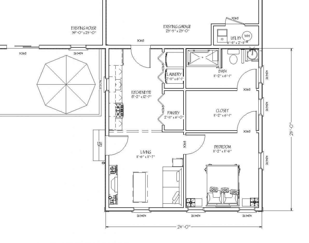 blueprint view of $10,10 In-law Apartment | In-law apartment ..