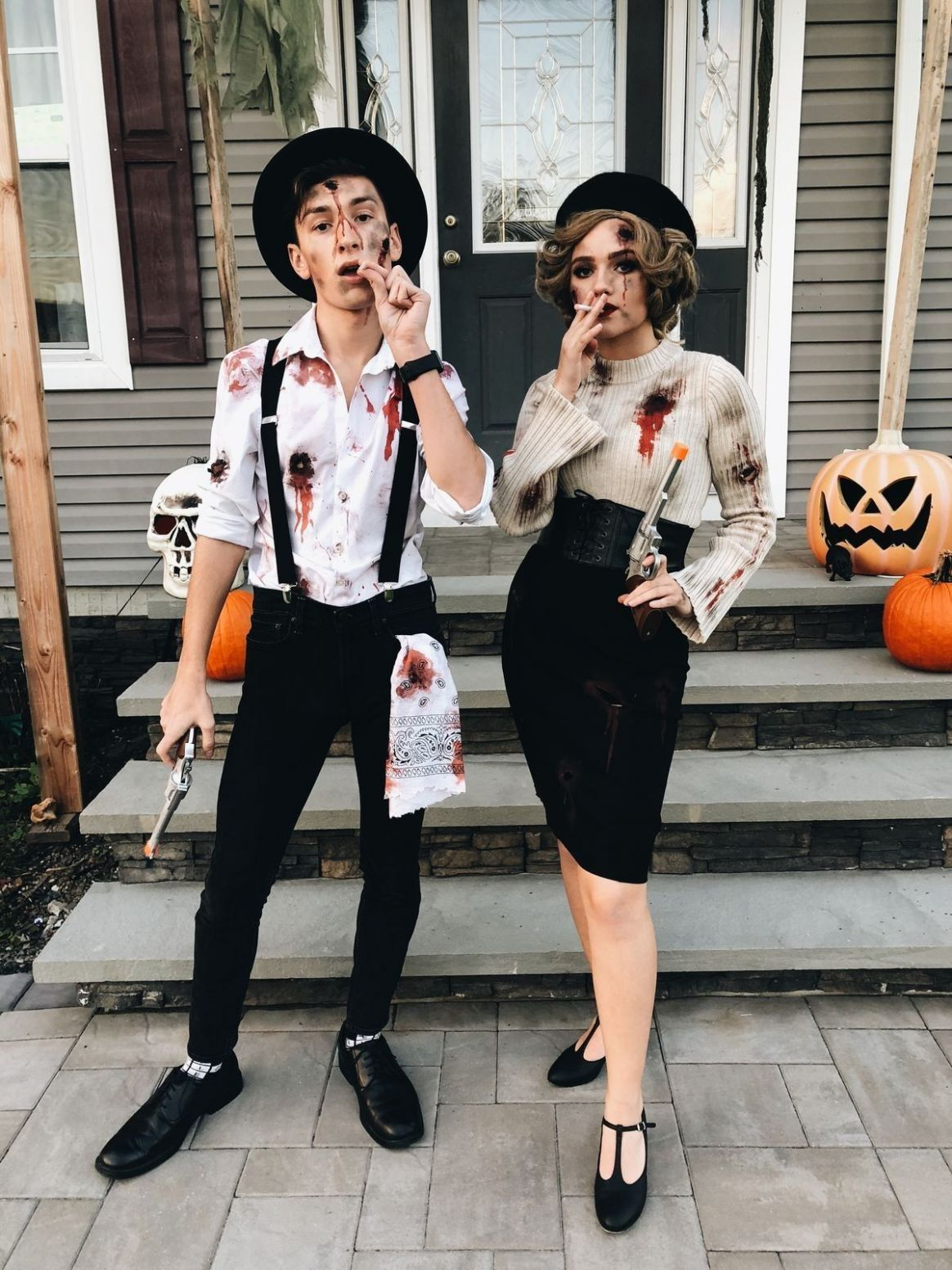 Bonnie and Clyde costumes | Halloween outfits, Holloween costume ..