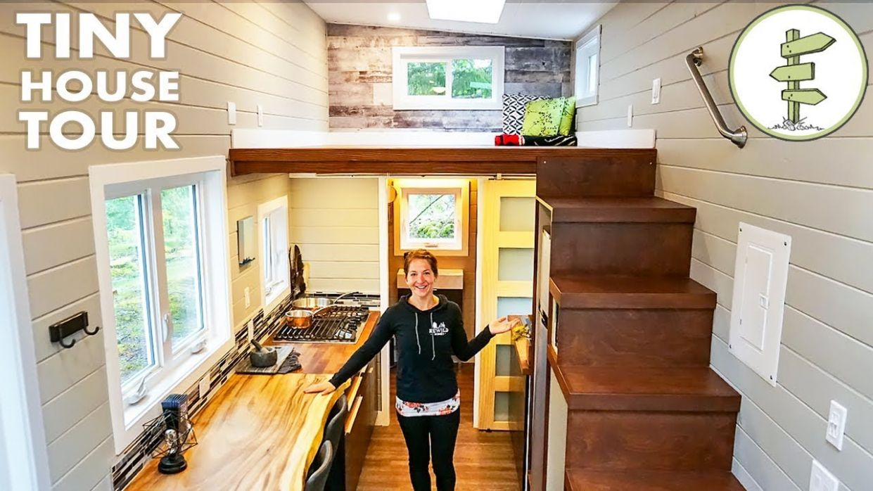 Bright & Spacious Tiny House is Perfect for Working from Home! - Full Tour - tiny house tour