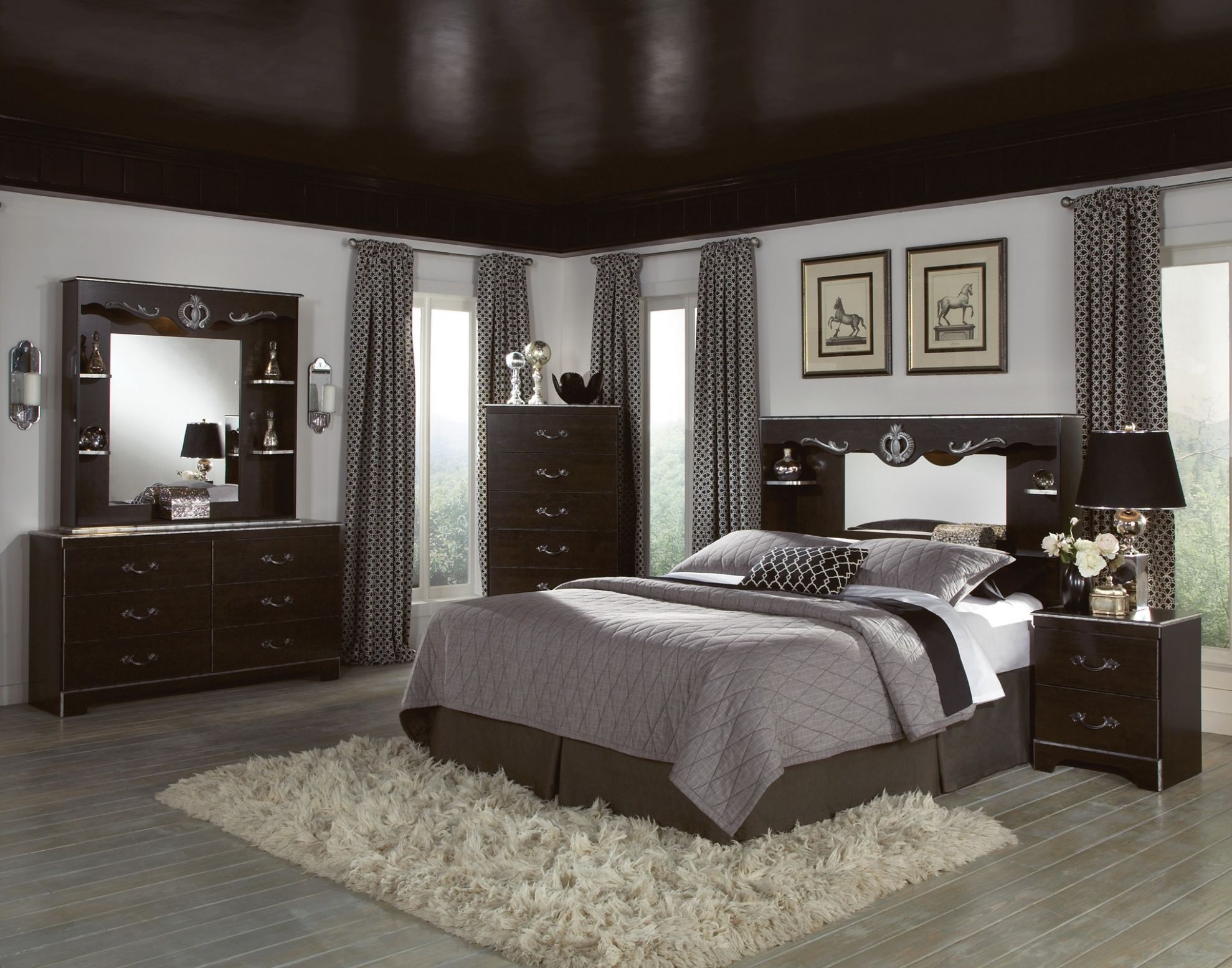 Brilliant Black Furniture Bedroom Idea Interior Awesome ..