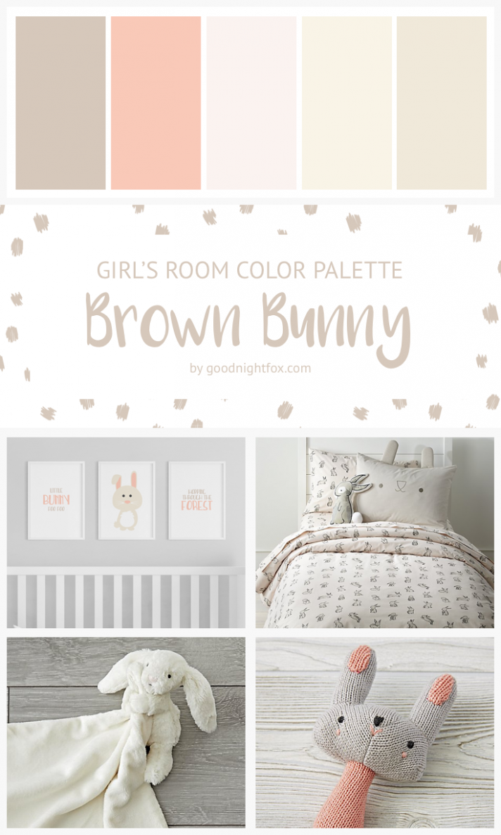 Brown Bunny Girl's Room Color Palette | Baby room colors, Girl ...