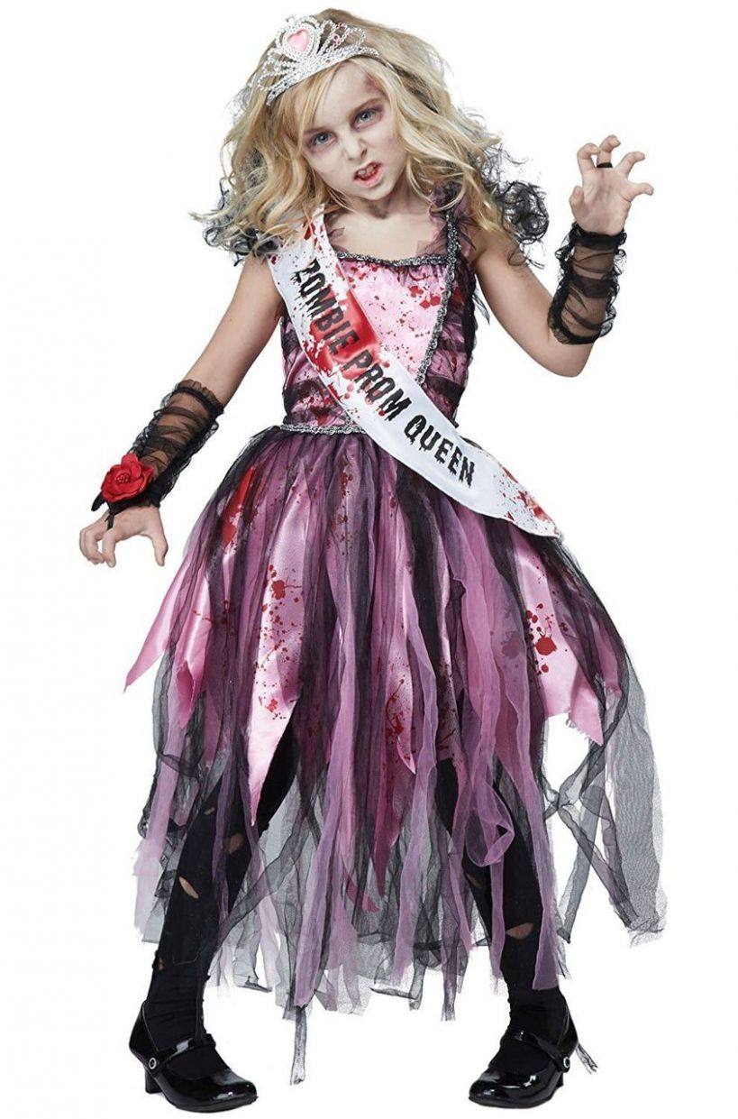 California Costumes Zombie Prom Queen Dress Child Girls Halloween Costume  12 - halloween costume ideas zombie