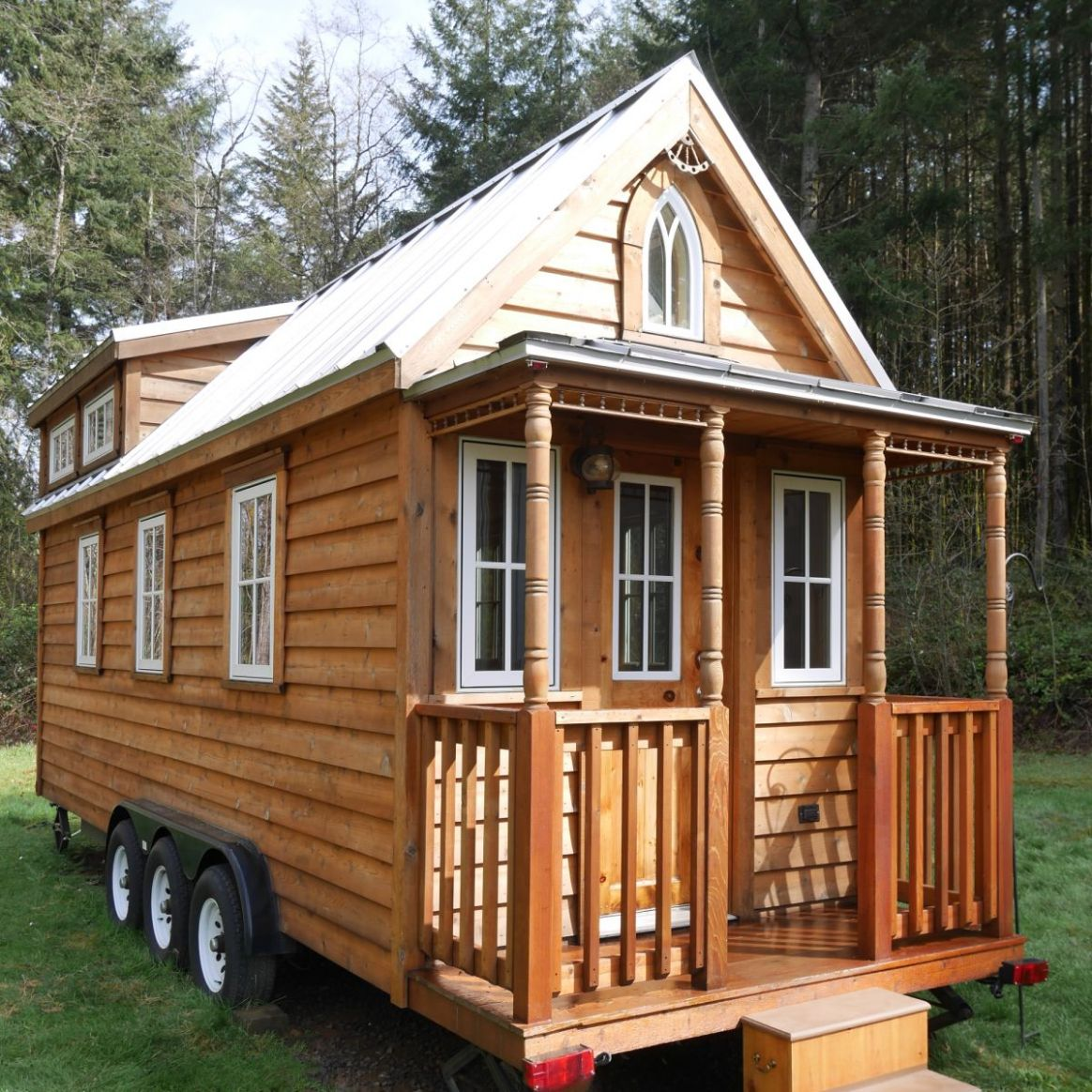 Charming Tumbleweed Tiny House on Wheels with 11 sleeping lofts! - Tiny  House Trailer for Sale in Kelso, Washington - Tiny House Listings