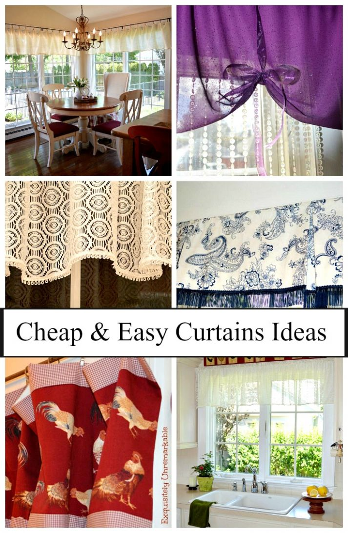 Cheap And Easy Curtain Ideas |Exquisitely Unremarkable