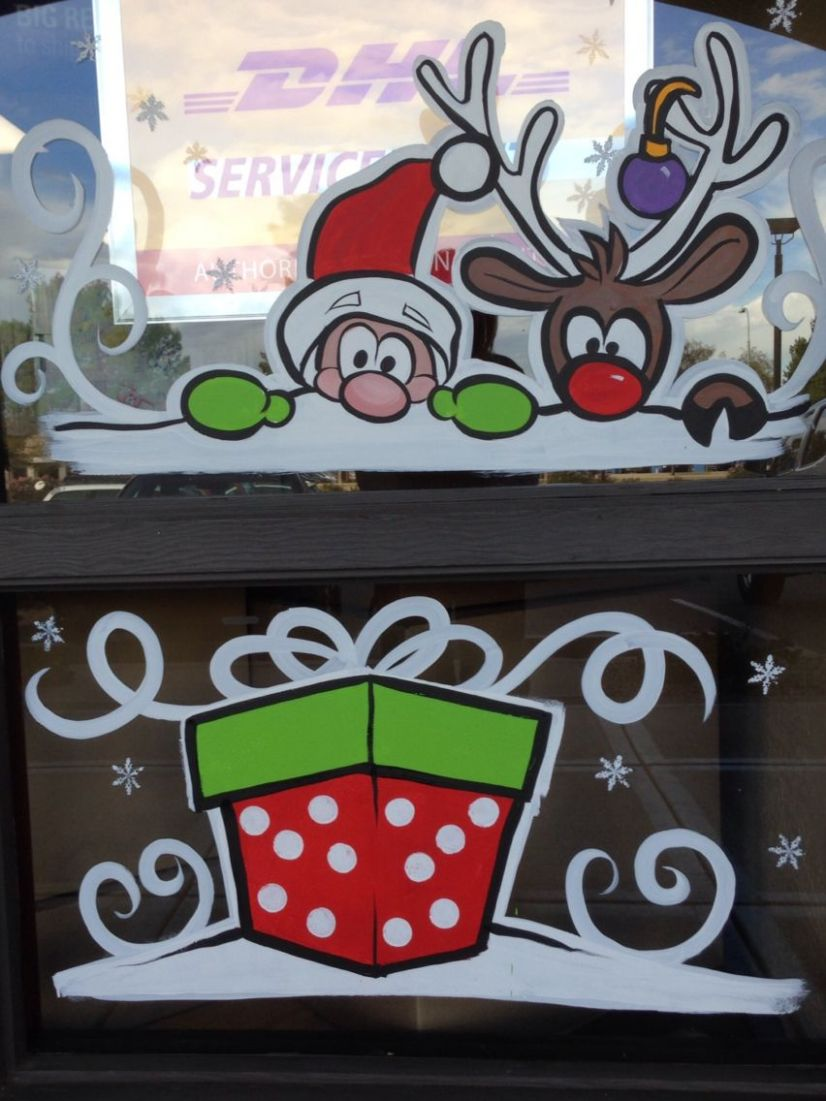 Christmas window painting 10 | Christmas window painting ..