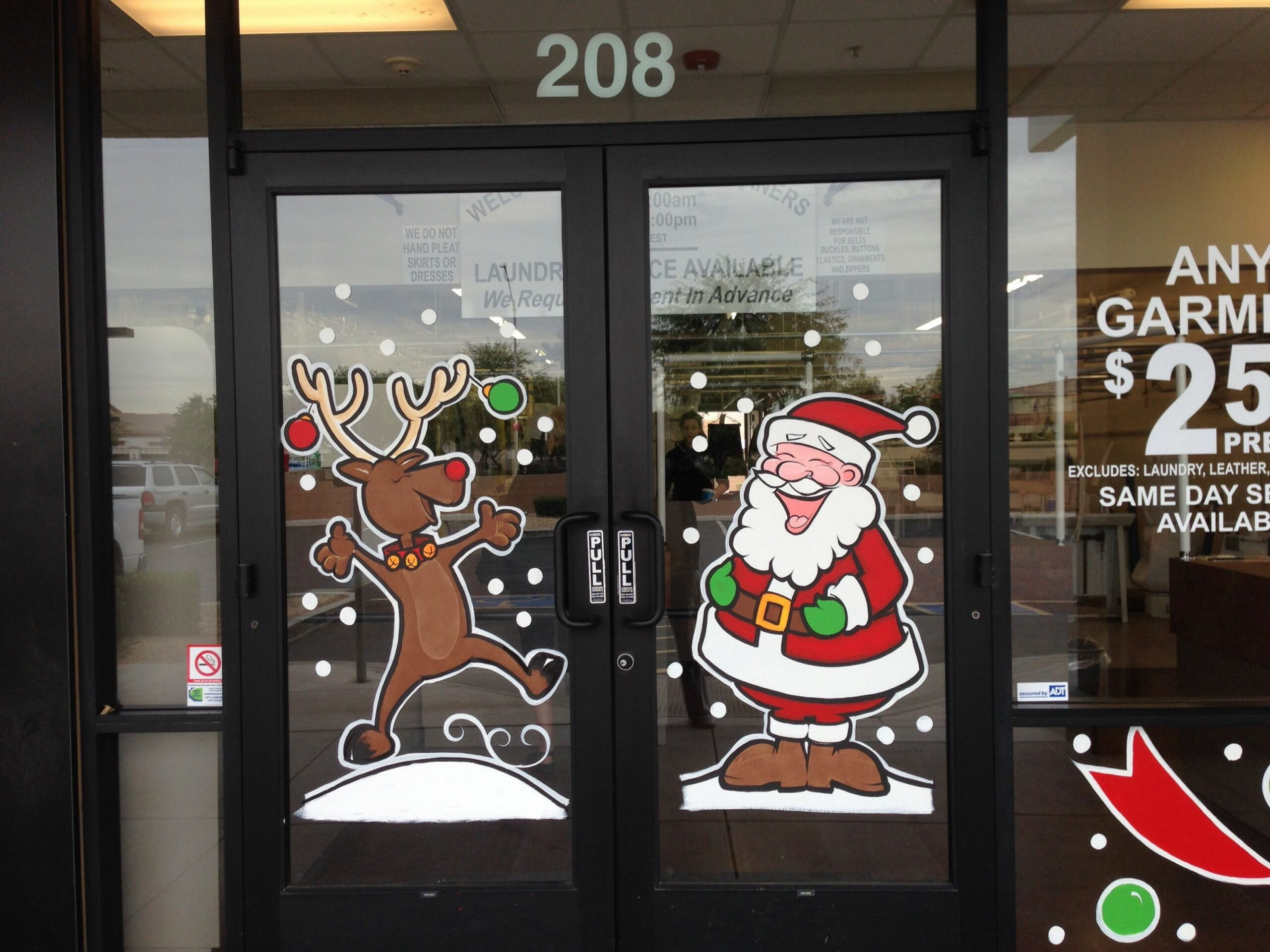 Christmas window painting | Christmas window painting, Christmas ..