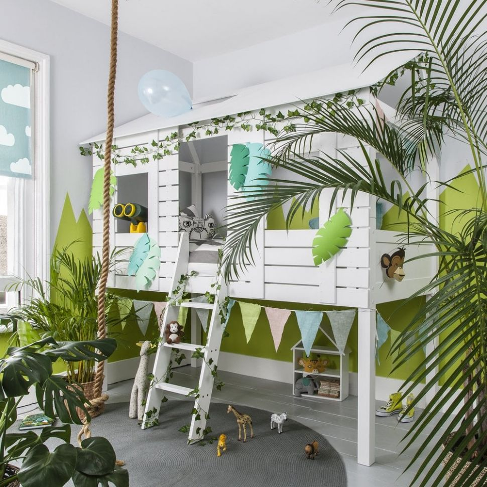 Christopher Midsleeper Jungle Treehouse Bed - childrens bedroom ideas jungle