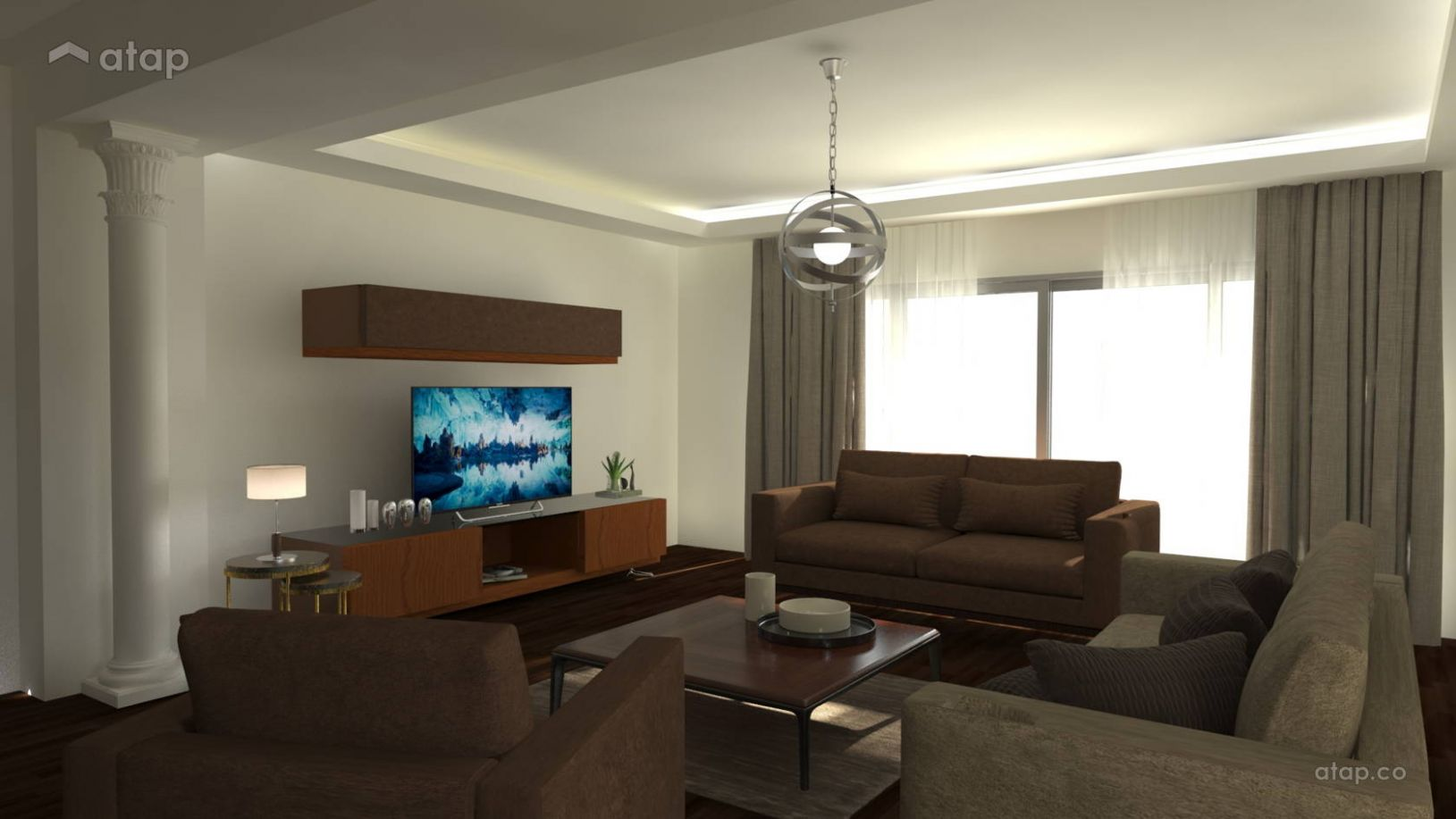 Classic Modern Living Room apartment design ideas & photos ..