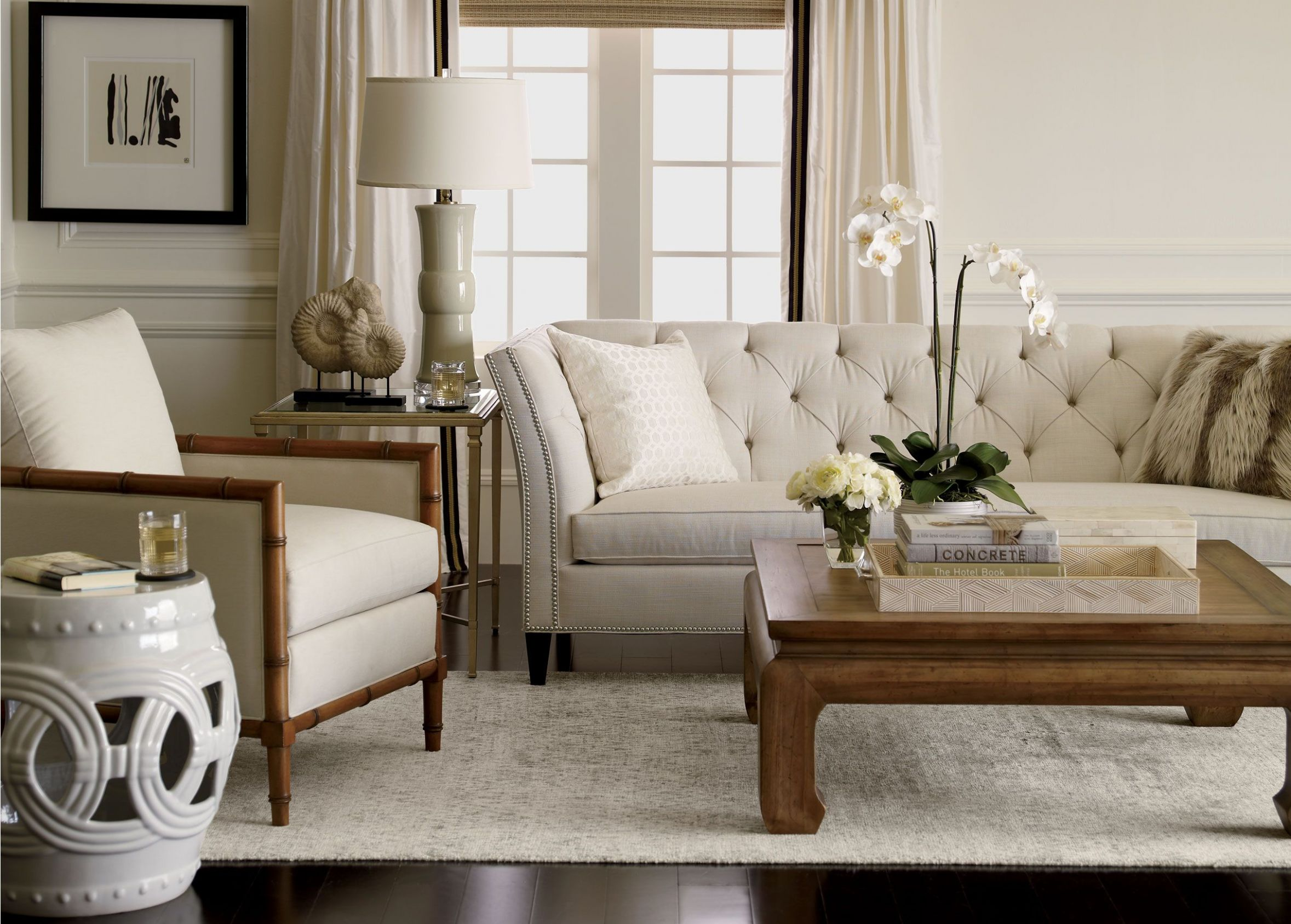 Classic neutral meets natural in a comfortably modern mix oasis ...