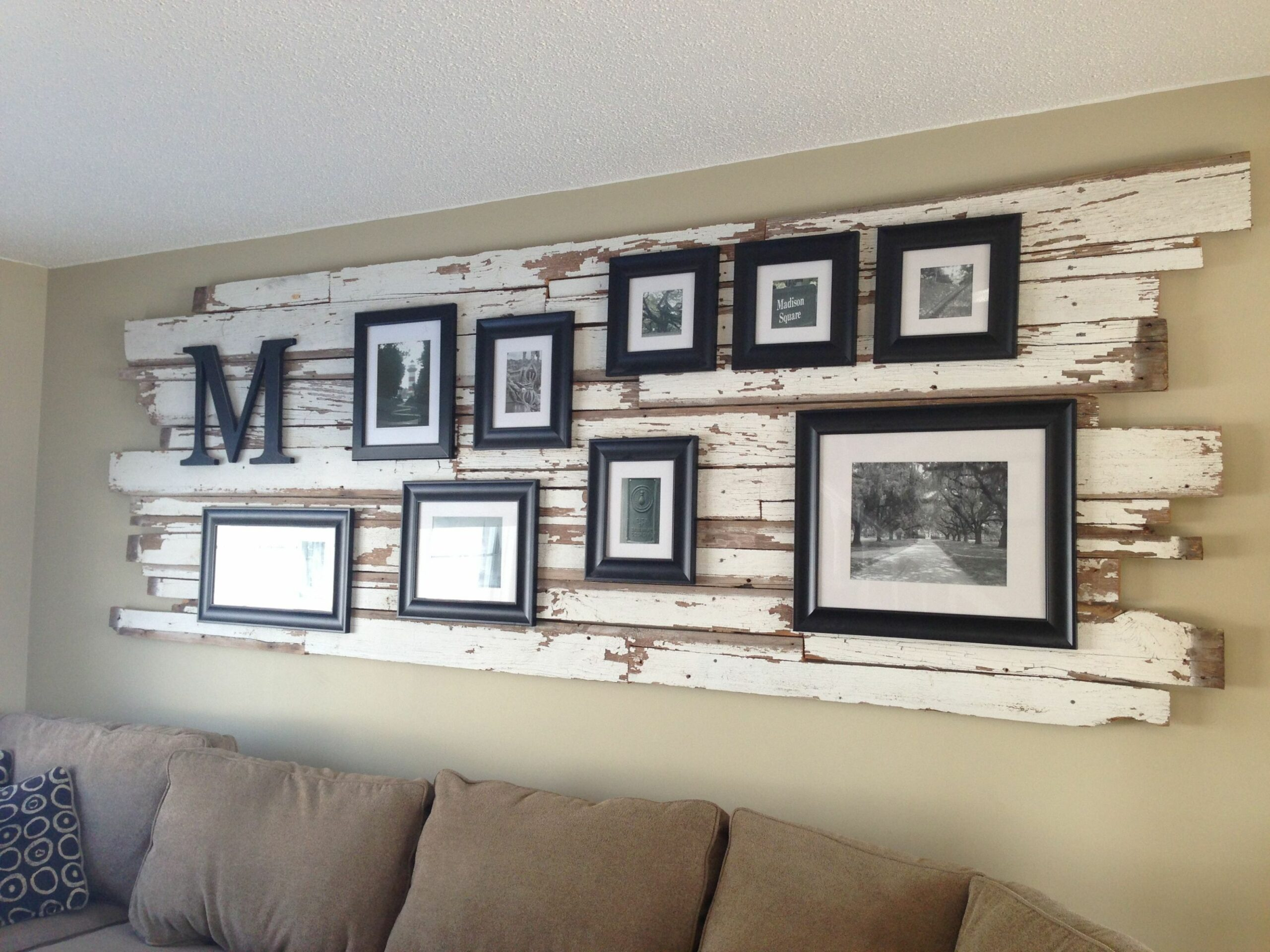 Classy rustic wall decor | pallet board furniture | Room wall ..