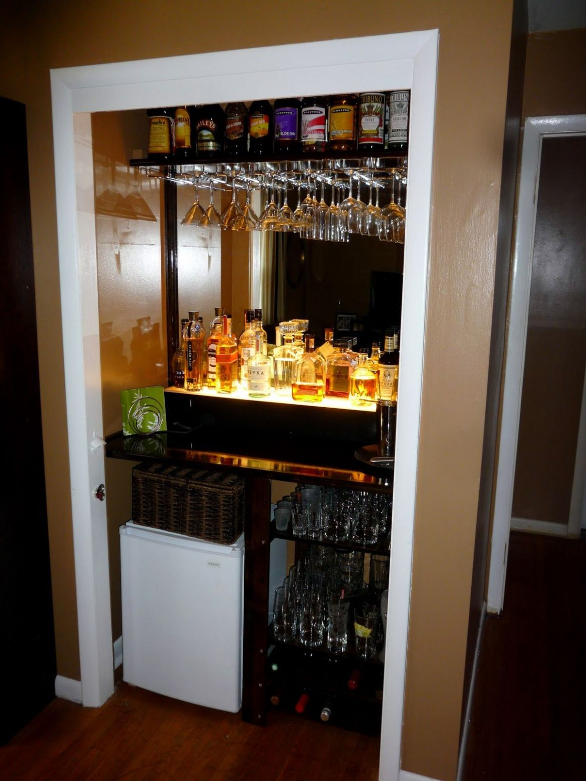 closet converted into dry bar - Google Search | Bars for home ...