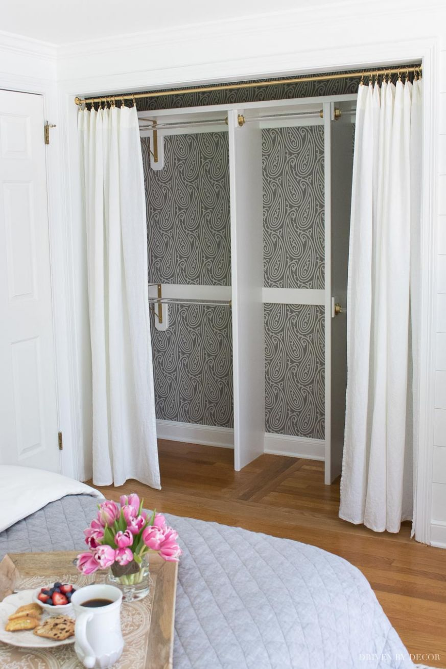 Closet Door Ideas: 12 Unique Ways to Dress Up Bedroom Closet Doors ...